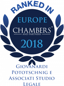 Logo studio legale - Ranked in Europe Chambers 2018